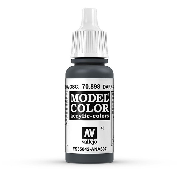 Vallejo Model Color Schwarzblau, matt, 17 ml