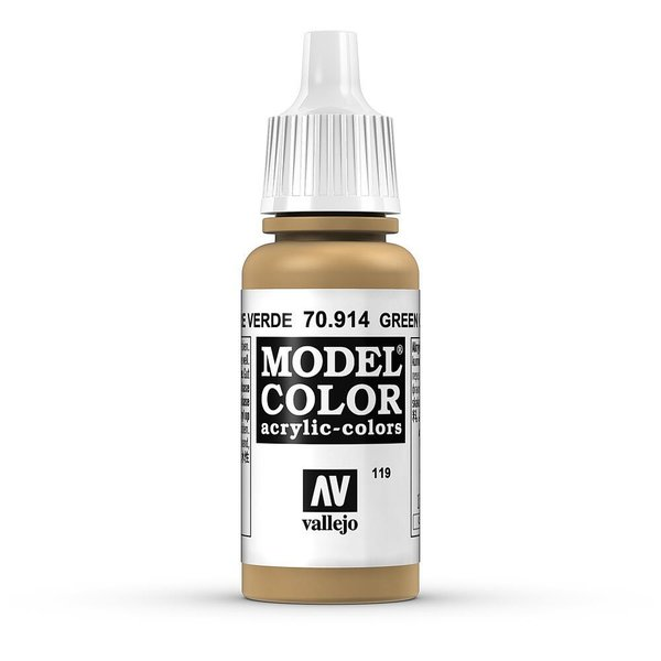 Vallejo Model Color Grünocker, matt, 17 ml