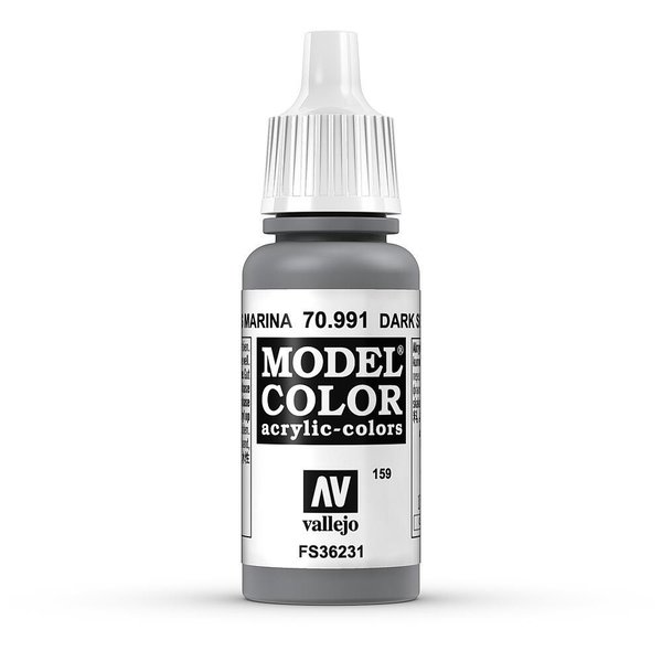Vallejo Model Color Seegrau, dunkel, matt, 17 ml